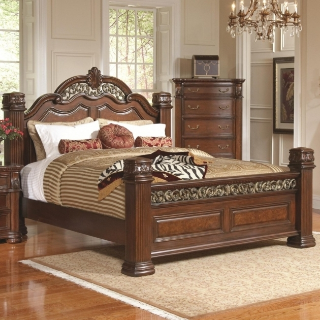 King Size Bed Frame With Headboard And Footboard Attachments Brown Wooden Picture 47