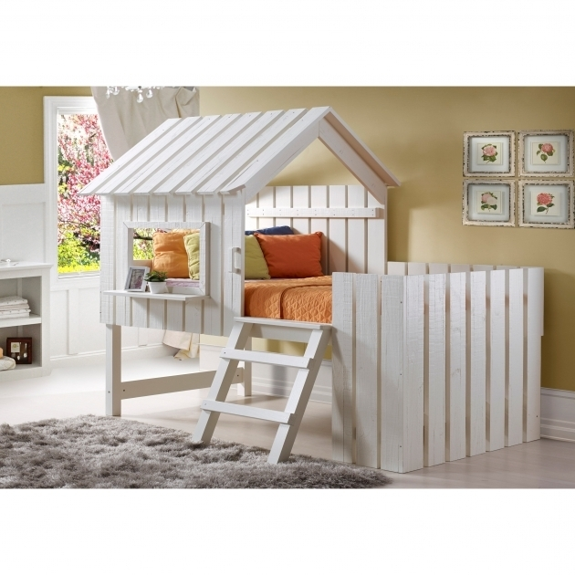 Loft Beds For Toddlers Low Ceiling Bunk Beds Donco Kids Cabana Twin Low Loft Bed 1350TLRP Picture 45