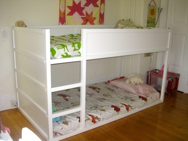 Designer kids low ceiling bunk beds in ash by furniture for Low beds ikea