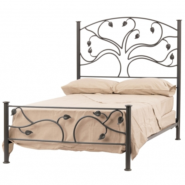 Low Profile King Metal Bed Frame Headboard Footboard Cotton Sheet Pictures 57