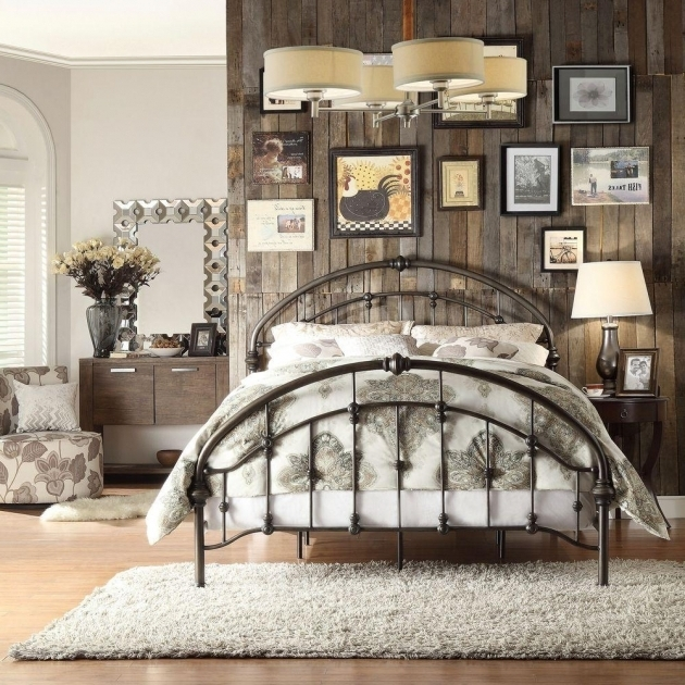 Metal Headboards For Double Bed Queen Size Sleigh Metal Bed Image 75