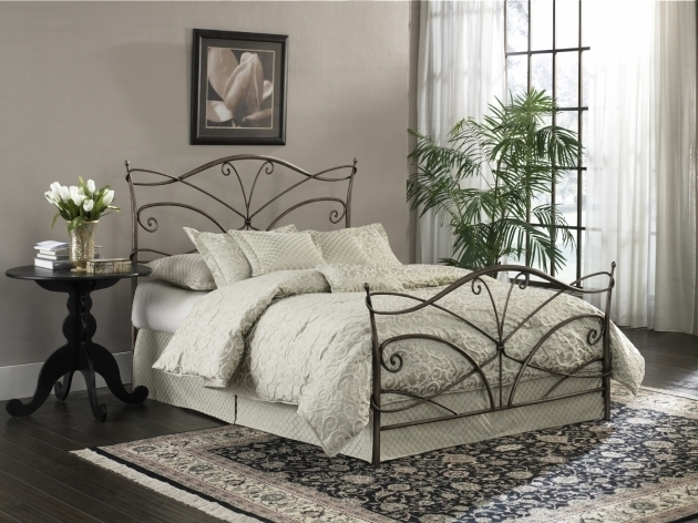 Papillon King Metal Bed Frame Headboard Footboard Images 95