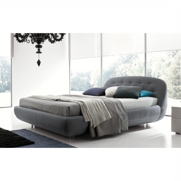 Rossetto Eclipse Queen Size Grey Upholstered Platform Bed Images 74