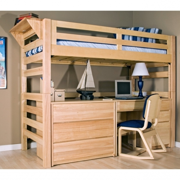 Simple Bunk Bed With Table Underneath Desk Wooden Ideas Picture 66