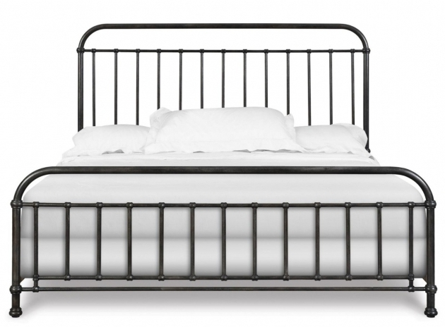 Simple King Metal Bed Frame Headboard Footboard Suitable For Minimalist White Bedroom  Photo 09