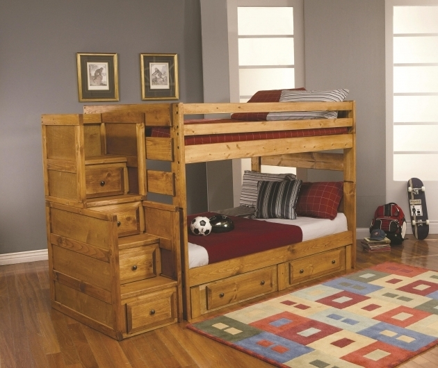 Space Saving Beds For Adults With Wooden Low Ceiling Bunk Beds And Wooden Flooring For Modern Bedroom Ideas Image 40