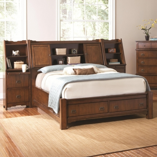 Traditional Bedroom Oak Wood StorageFull Size Headboard And Footboard Sets Grendel Eastern King Bookcase Bed Picture 75