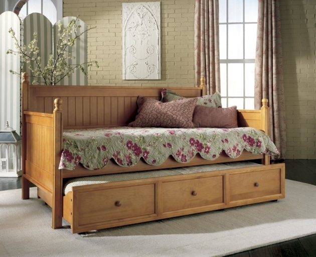 Twin Daybed With Trundle Bed Single Cheap Photo 22