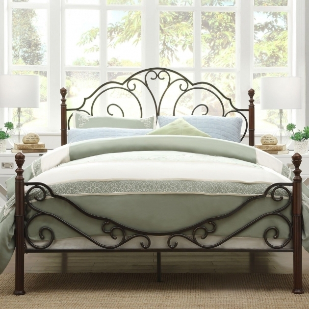 Unique King Metal Bed Frame Headboard Footboard Photos 47