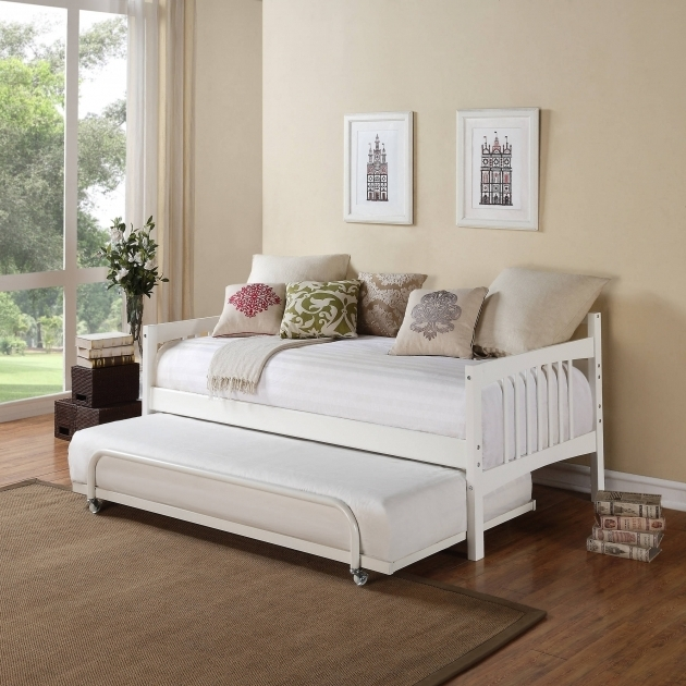 White Daybed With Trundle Bed And Linen Images 55