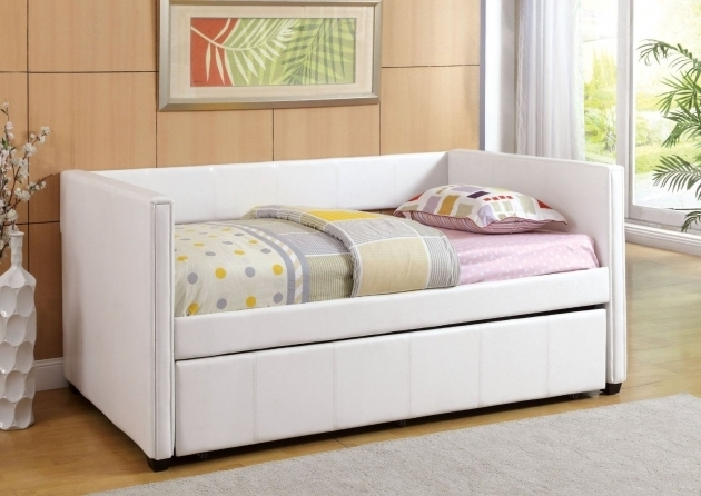 White Daybed With Trundle Bed Pop Up Pictures 49