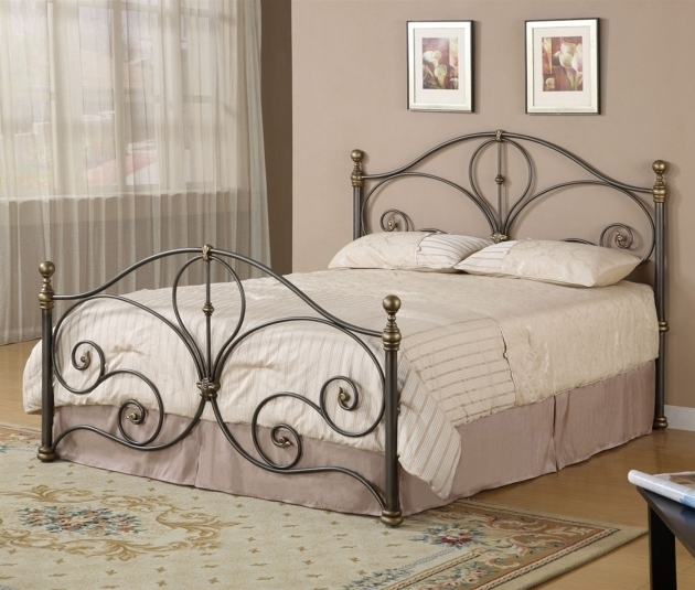 Wrought Iron Full Size Headboard And Footboard Sets With Beautiful Pattern Ideas Photo 43