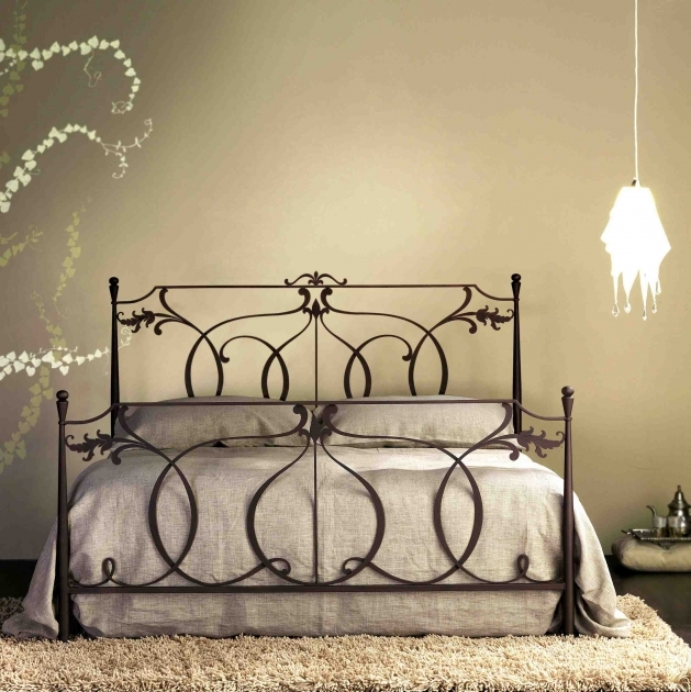 Wrought Iron Headboard High Quality Hand Made Italian Bed For Bedroom By Cosatto Letti Pic 32