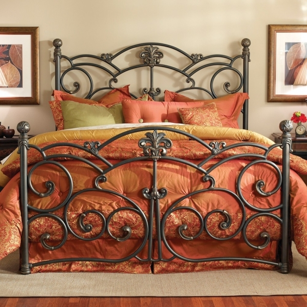Wrought Iron Headboard King Bed Designs Photo 38