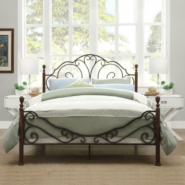 Wrought Iron Headboard King Ideas Bed Design Photo 91