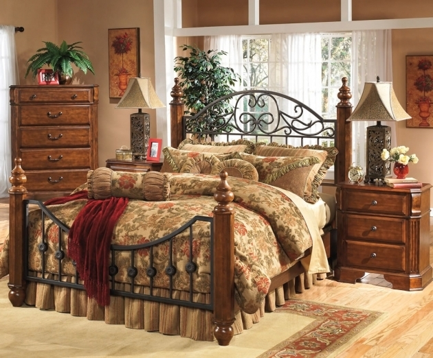 Affordable Traditional Ashley Furniture Metal Beds With Wood Image 47