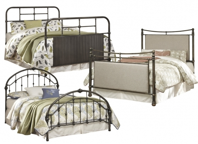 Ashley Furniture Metal Beds Cushioned Panel Bed In Copper Photos 60