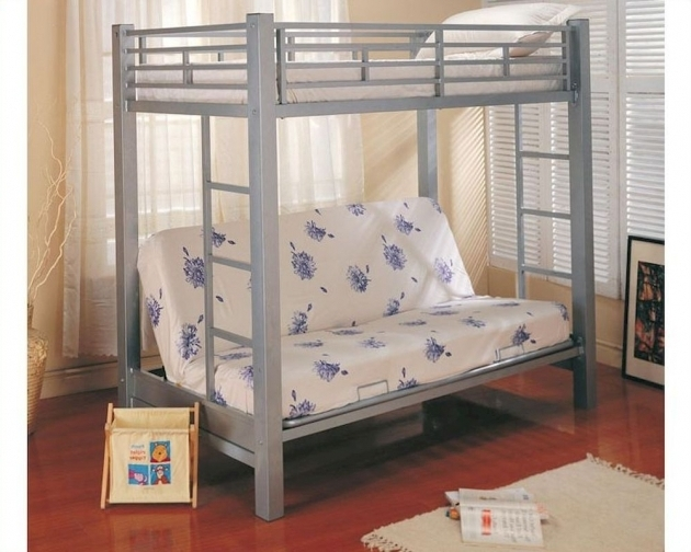 Bunk Bed With Only Top Bunk Coaster Furniture Design Twin Over Futon Bunk Bed In Silver Bunks Picture 54