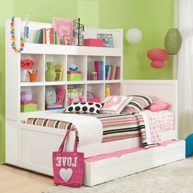 Daybed With Bookshelf Trundle Bed Image 18