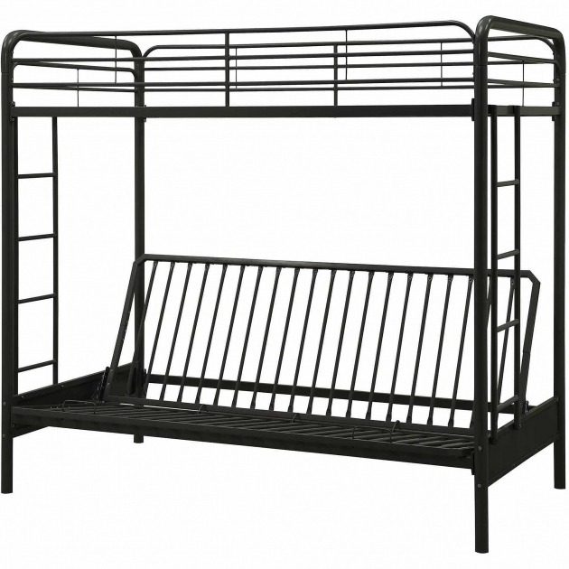 Dhp Twin Over Futon Metal Bunk Bed With Only Top Bunk Multiple Colors Photo 05