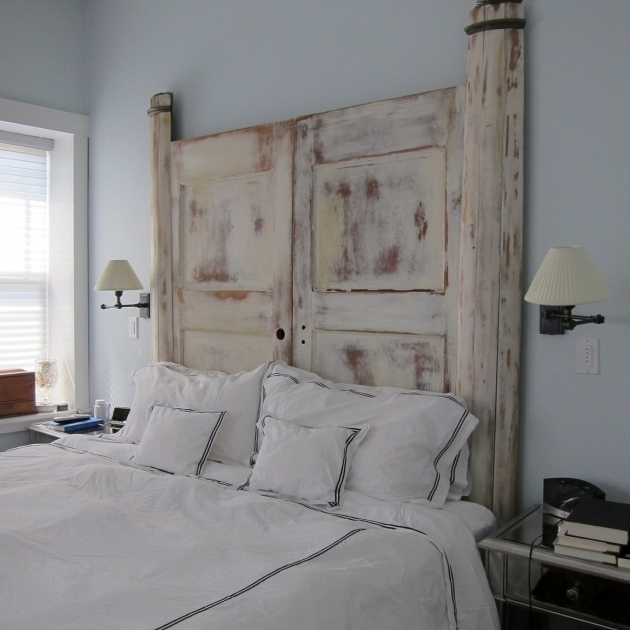 Diy King Size Headboard Made From A Door Photo 26