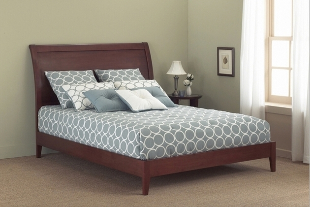 Java Platform Bed With Mattress Sleigh Bed Fashion Photo 04