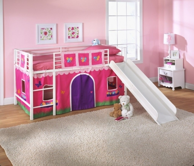 Metal Loft Bed With Slide For Children  Picture 89