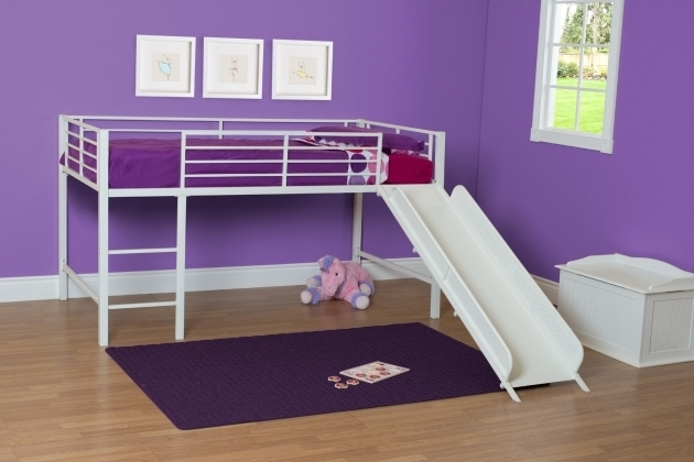 Metal Loft Bed With Slide Furniture Junior Loft White Image 58