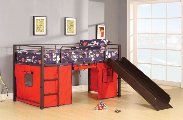 Metal Loft Bed With Slide Picture 33