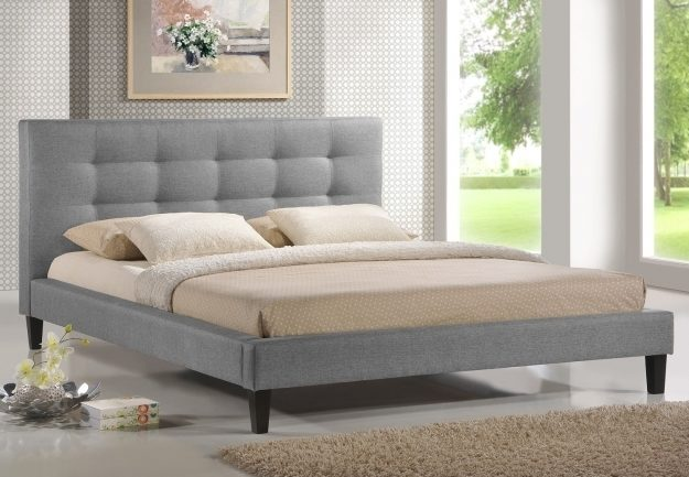 Minimalist Queen Platform Bed Frame With Headboard Low Profile Bedroom Furniture Photo 50