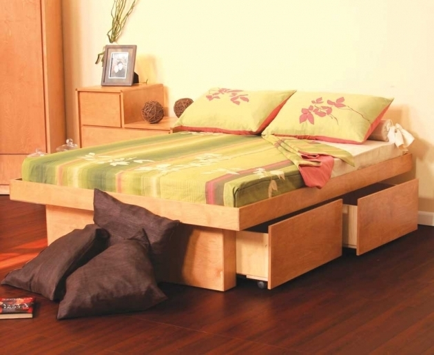 Modern Storage Platform Bed Queen Picture 50
