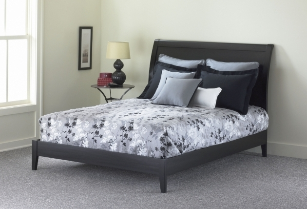 Platform Bed With Mattress Java Black Photo 42