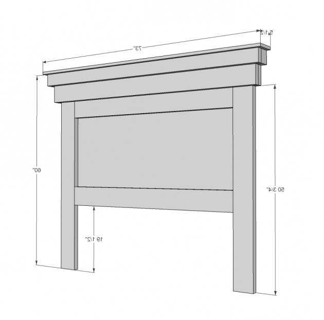 Queen Headboard Dimensions Mantel Moulding Headboard Diy Photos 72
