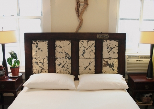 Queen Headboard Made From A Salvaged Door Photos 51