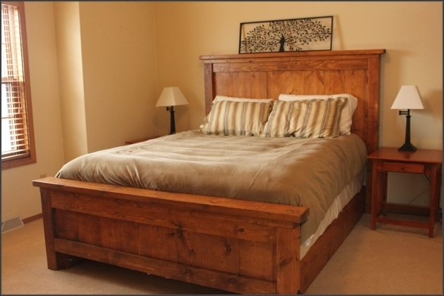 Queen Platform Bed Frame With Headboard Bedroom Furniture Classic Brown Wooden Bed Frame With Drawers Image 05