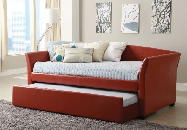 Red Daybeds With Pop Up Trundle Images 26