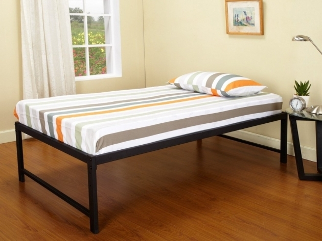 Rise Tall Platform Bed Frame Without Headboard Idea Feat Laminate Wood Floor Design Photos 60