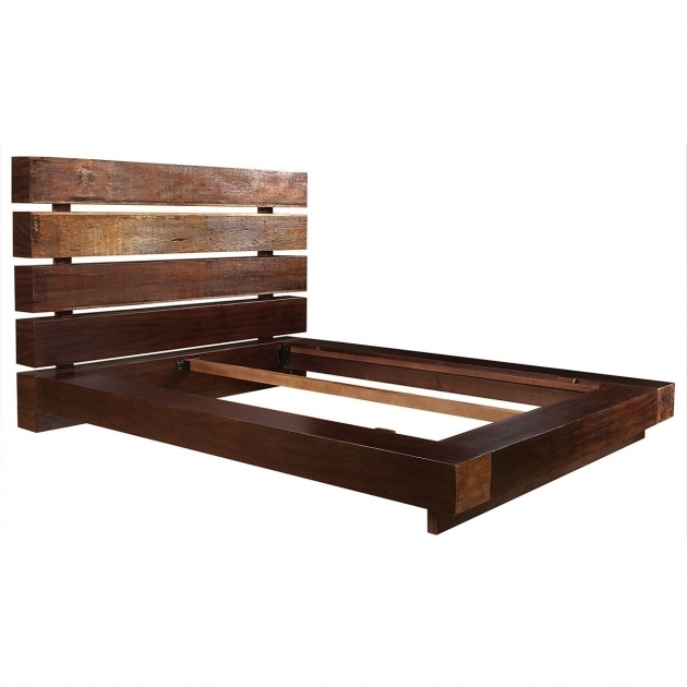 Robust Wood Queen Platform Bed Frame With Headboard Pictures 49