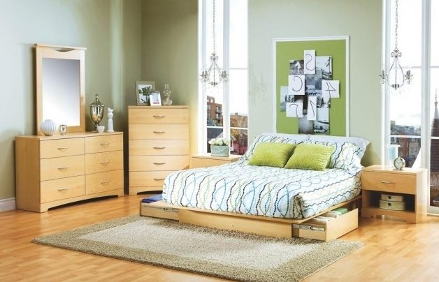 South Shore Urben Storage Platform Bed Queen In Natural Maple Photo 50