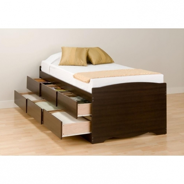 Storage Tall Platform Bed Frame Bedroom Furniture Picture 46