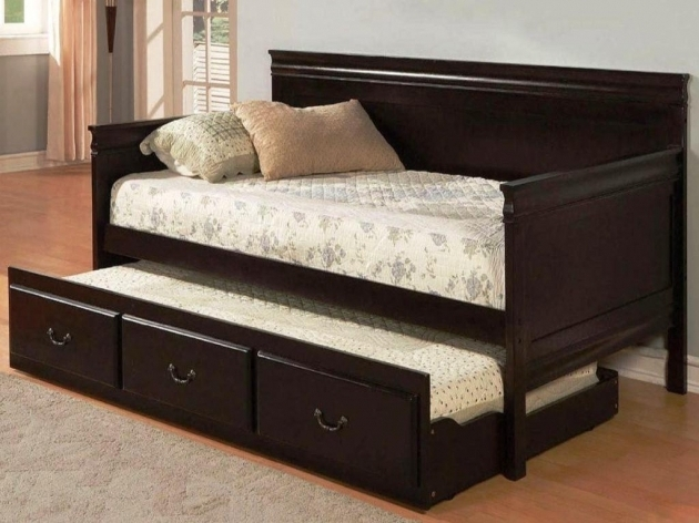 Twin XL Daybed Frame With Trundle And Storage Drawer Photos 47