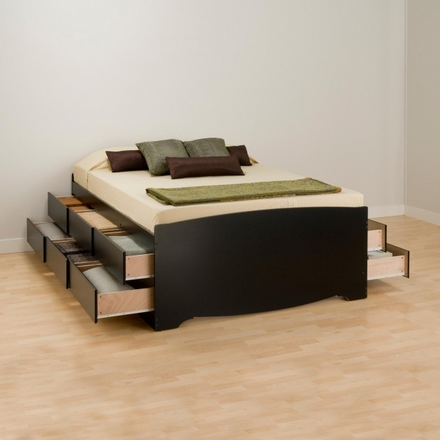 Vito Storage Platform Bed Queen Pictures 49