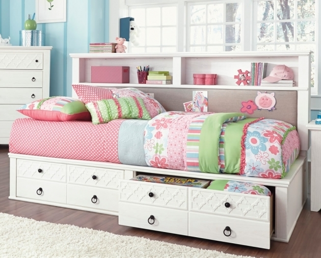White Daybed With Bookshelf Sideboard And Trundle Mixed Rectangle Bookcase Images 30