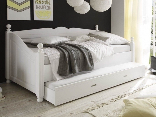 White Full Size Daybed With Trundle Bed Photos 77