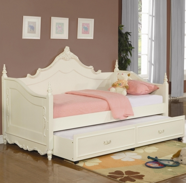 White Queen Daybed Frame Patterned Wood Image 56