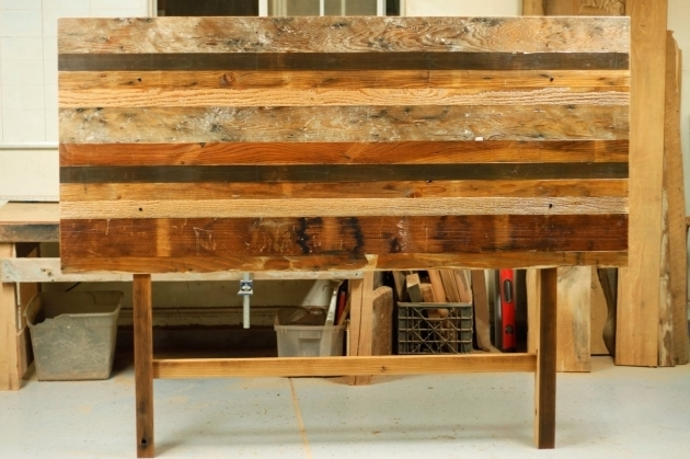 Arbor Exchange Patchwork Reclaimed Wood King Headboard Image 19