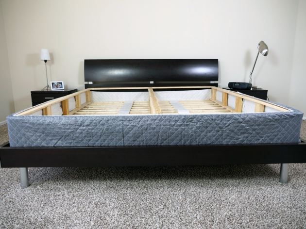 Bed Frame Metal Platform Bed Vs Box Spring Pictures 16