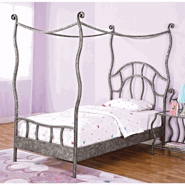Bed Luxury Full Size Metal Canopy Bed Frame Queen California Bed Frame Twin  Pictures 53