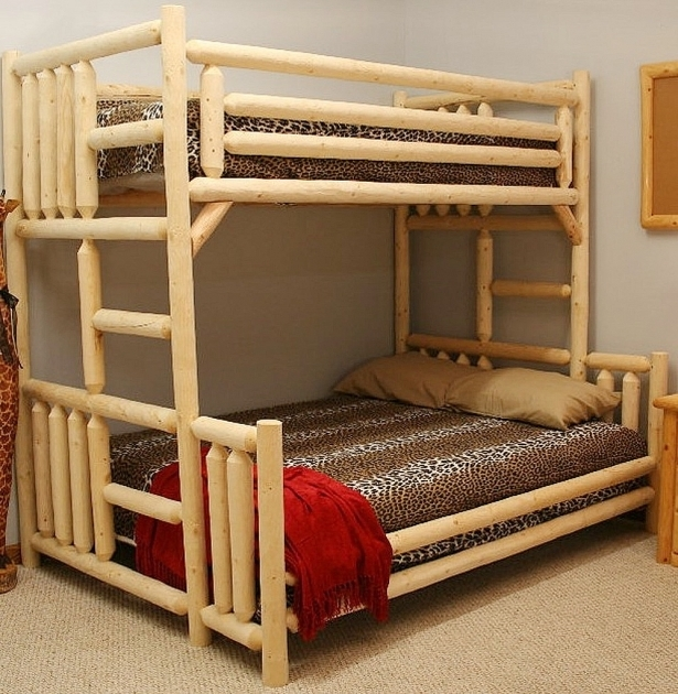 Bedding Bunk Bed With Queen Size Bottom Style Loft Bed  Pictures 69