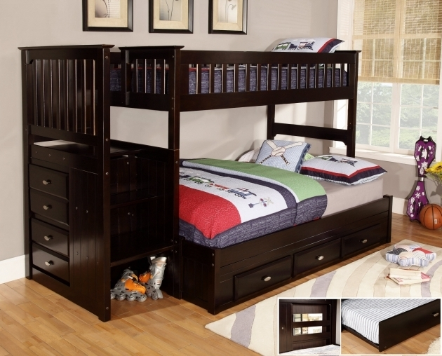 Best Full Over Queen Bunk Bed With Stairs Home Furniture Design  Picture 18